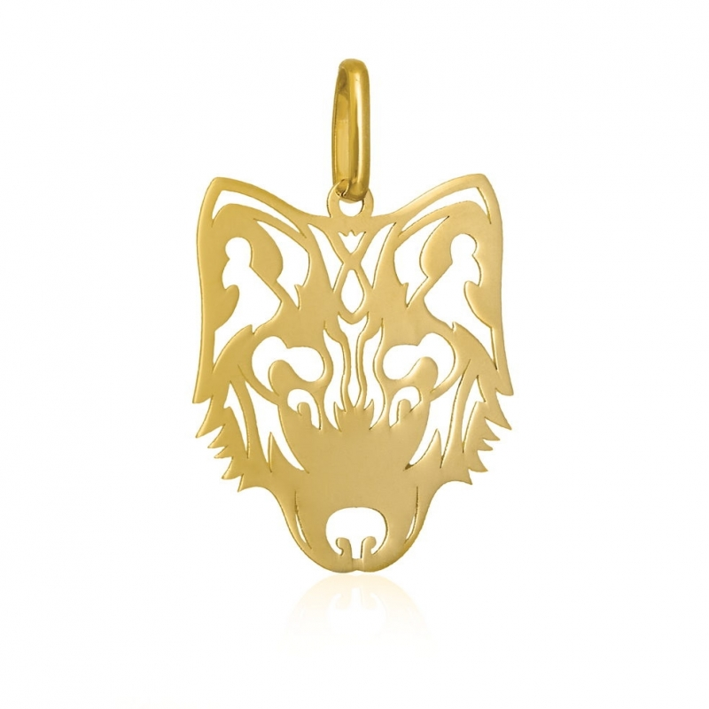 bijoux collier femme loup