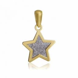 Pendentif en or jaune et laque pailletée, étoile