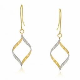 Boucles d'oreilles en or jaune rhodié