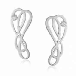 Boucles d'oreilles en or gris et diamant