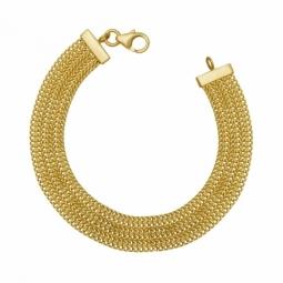 Bracelet en or jaune , multi chaînes