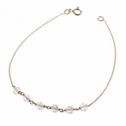 Bracelet en or jaune, cristaux de synthèse