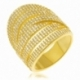 Bague en argent doré et oxydes de zirconium - A