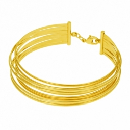 Bracelet en plaqué or, jonc multifils