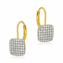 Boucles d'oreilles plaqué or et oxyde de zirconium