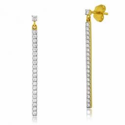 Boucles d'oreilles en plaqué or, oxydes de zirconium