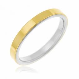 Alliance en  or jaune  et titane, 3 mm