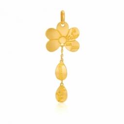 Pendentif en or jaune, marguerite