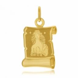 Médaille zodiaque en or jaune, vierge
