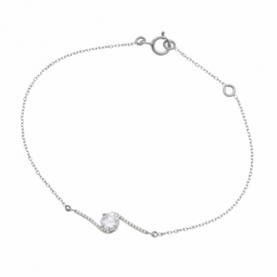 Bracelet or gris, oxydes de zirconium