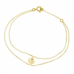 Bracelet en or jaune et diamant