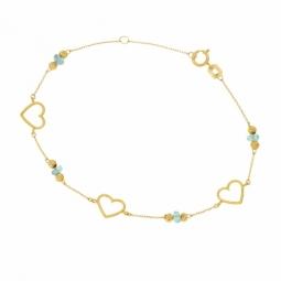 Bracelet en or jaune et apatites