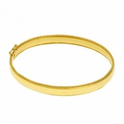 Bracelet jonc ovale en or jaune