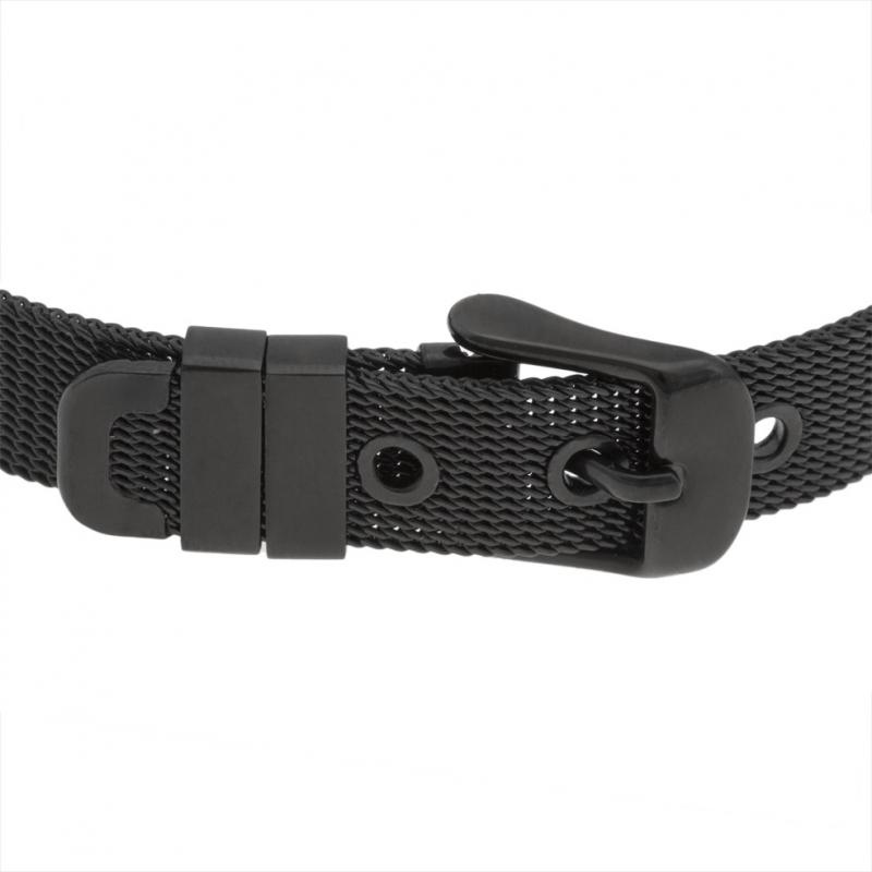 MilanaiseLongueur En Acier 215 Bracelet NoirMaille Achat odxerCB