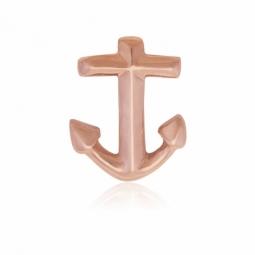 Charm en acier rose, ancre marine