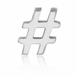 Charm en acier, hashtag