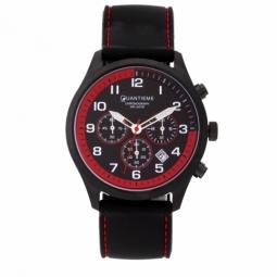 Chronographe homme étanche 50m, boîte acier noir, bracelet silicone et verre minéral