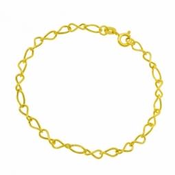 Bracelet en or jaune, maille infini