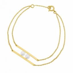 Bracelet en or jaune et perles de culture