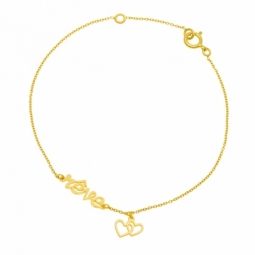Bracelet en or jaune, rêve
