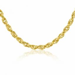 Collier en or jaune, maille torsadée