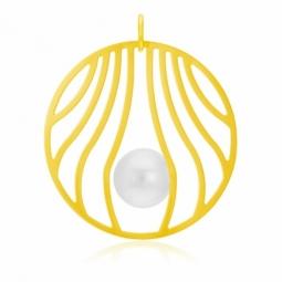Pendentif en or jaune et perle de culture 8 - 8.5 mm