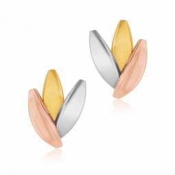 Boucles d'oreilles en 3 ors