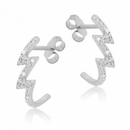 Boucles d'oreilles en or gris et diamants