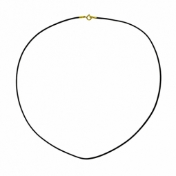 Collier cordon noir en or jaune