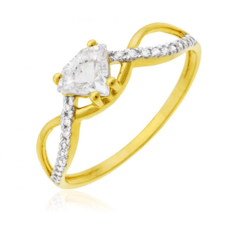 bague en or rhodié manege a bijoux