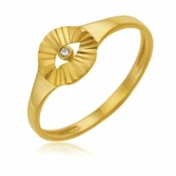 Bague en or jaune et diamant
