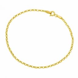 Bracelet en or jaune maille jaseron