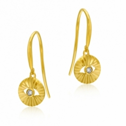 Boucles d'oreilles en or jaune, diamant