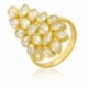 Bague en plaqué or et oxydes de zirconium - A
