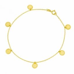 Bracelet en or jaune et pampilles