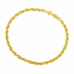 Bracelet en or jaune, maille torsadée