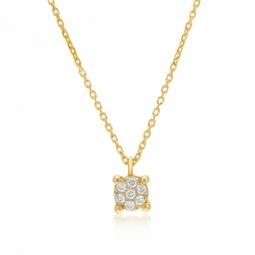 Collier en or jaune rhodié et diamants