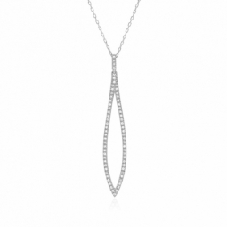 Collier en or gris et diamants