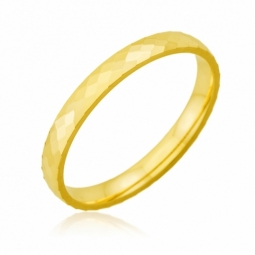 Alliance en or jaune, fantaisie 2.5 mm