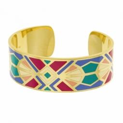 Bracelet en plaqué or et laque