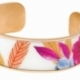 Bracelet jonc en acier rose, motif imprimé - B
