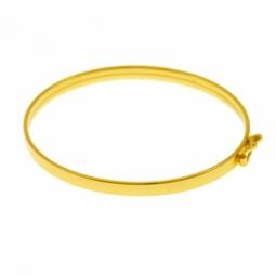 Bracelet en or jaune, demi jonc bébé