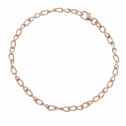 Bracelet en or rose rhodié