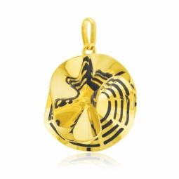 Pendentif en or jaune et laque