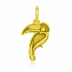 Pendentif en or jaune, toucan
