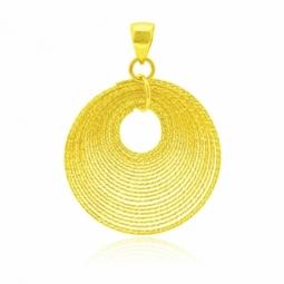 Pendentif en or jaune, spirales