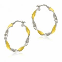 Créoles en or jaune rhodié