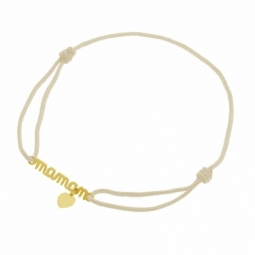 Bracelet en or jaune cordon, Maman