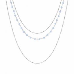 Collier en argent rhodié et cristaux de synthèse
