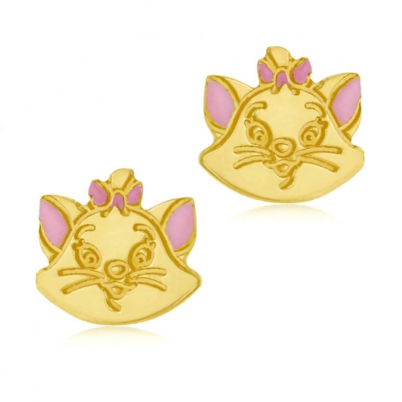 couleurs harmonieuses différemment vente usa en ligne Achat Boucles d'oreilles en or jaune et laque, Marie chat ...